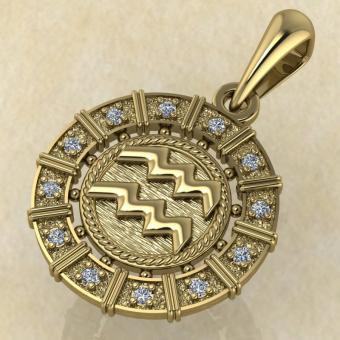 Водолей золото с бриллиантами