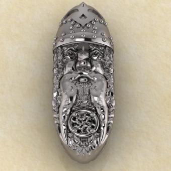 Подвеска Оберег личина Волха серебро