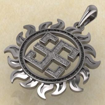 Оберег Всеславец серебро