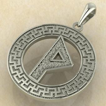 Руна «ВУНЬО» в солярном обережном круге из золота