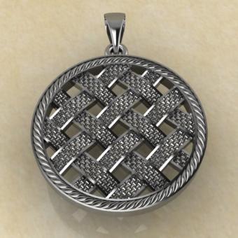 Славянский оберег засеянное поле из серебра