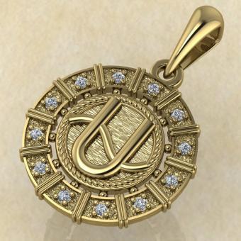 Змееносец золото с бриллиантами
