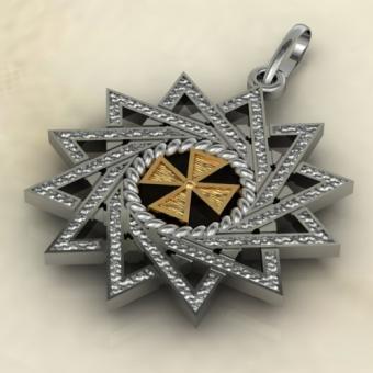 Звезда Эрцгаммы комбинированная